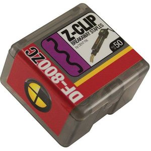 DF-800ZC50 Breakaway Staple Z-Clip, Stainless Steel, Use With: DF-400BR, DF-800BR Hot Stapler