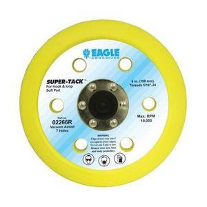 KOVAX® 02266R 02266R Soft Disc Pad, 6 in, 5/16-24 Arbor/Shank, Super-Tack Attachment, 7 Holes