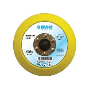 KOVAX® 03105 03105 Disc Pad, 5 in, 5/16-24 Arbor/Shank, Stickon (PSA) Attachment
