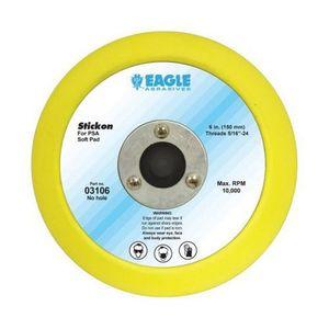 03106 Disc Pad, 6 in, 5/16-24 Arbor/Shank, Stickon (PSA) Attachment