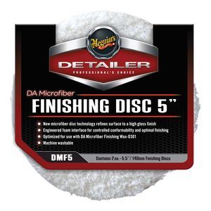 DMF5 Dual Action Finishing Disc, 5 in Dia, Hook and Loop Attachment, Microfiber Pad
