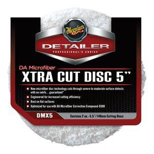 DMX5 Dual Action Xtra Cut Disc, 5 in Dia, Microfiber Pad