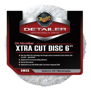 DMX6 Dual Action Xtra Cut Disc, 6 in Dia, Microfiber Pad