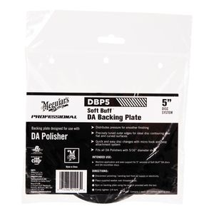 Meguiar's DBP5 DBP5 Dual Action Backing Plate, 5 in Dia, 5/16 in Arbor/Shank, Hook and Loop Attachment