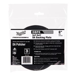 Meguiar's DBP6 DBP6 Dual Action Backing Plate, 6 in Dia, 5/16 in Arbor/Shank, Hook and Loop Attachment