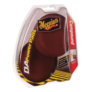 Meguiar's G3507 G3507 Dual Action Compound Power Pad, 4 in Dia, Foam Pad, Red