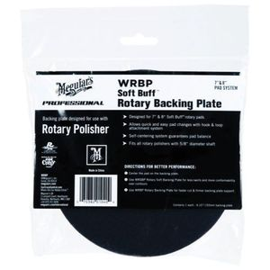 WRBP Rotary Backing Plate, 7 or 8 in Dia, 5/8 in Arbor/Shank, Hook and Loop Attachment