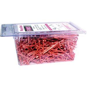 J20014 Draw Pin, 2 mm Dia, Steel, Copper-Coat