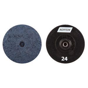 Norton® 63642503656 03656 Quick Change Grinding Disc, 3 in Dia, 24 Grit, Blue
