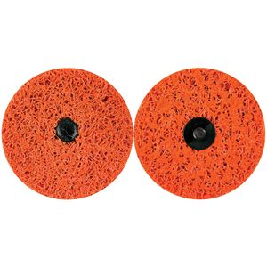 Norton® 03921 03921 Non-Woven Quick Change Sanding Disc, 4 in Dia, Orange