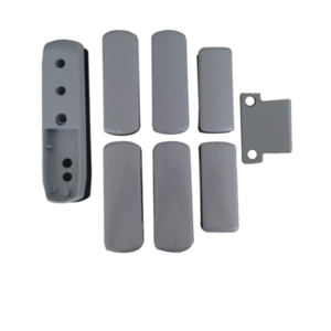 Gaab T380-04 Crossbar Exit Device Push Series For Double Leaf Door With Access Grey