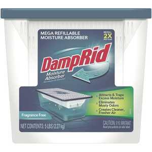 DampRid FG280 5 lb Fragrance Free Refillable Moisture Absorber