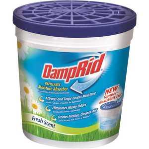 DampRid FG01FS 10.5 oz. Fresh Scent Refillable Moisture Absorber