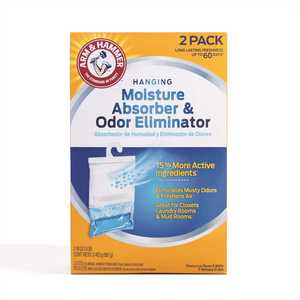 Arm & Hammer FGAH32 16 oz. Moisture Absorber and Odor Eliminator Hanging Bag