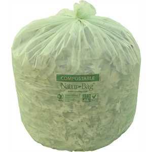 Natur-Bag NT1025-X-00029 NATUR-TEC NATUR-BAG Compostable Trash Bags, 64 GALLONS, 0.9 MIL, 47X60 IN., NATURAL