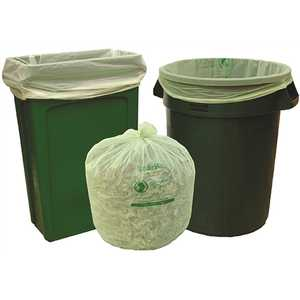 Natur-Bag NT1025-X-00018 30 gal. Compostable Trash Bags, 30 in. x 39 in., 0.8 MIL, Green
