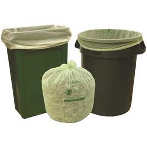 Natur-Bag NT1025-X-00012 33 gal. Compostable Trash Bags, 33 in. x 40 in., 1.0 MIL, Green