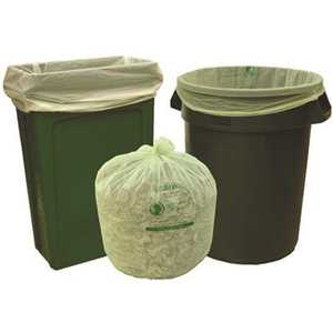 Natur-Bag NT1025-X-00011 45 gal. Compostable Trash Bags, 38 in. x 48 in., 1.0 MIL, Green