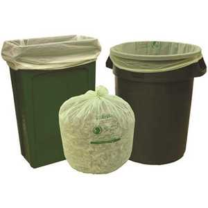 Natur-Bag NT1025-X-00013 39 gal. Compostable Trash Bags, 35 in. x 44 in., 1.0 MIL, Green