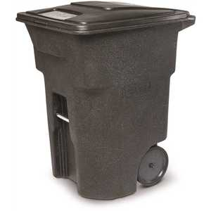 Toter ANA96-00BKS 96 Gal. Trash Can Blackstone with Quiet Wheels and Lid