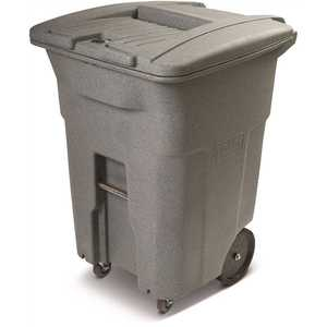 Toter CDC96-01GST 96 Gal. Graystone Document Trash Can with Wheels and Lid Lock (2 caster wheels 2 stationary wheels)
