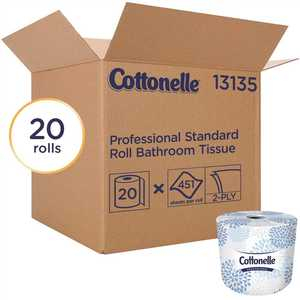 COTTONELLE 13135 2-Ply White Bulk Toilet Paper Standard Toilet Paper Rolls (, 451-Sheets/Roll)