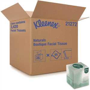 KLEENEX 21272 2-Ply Naturals Boutique Facial Tissue Upright Box (6-Bundles/Case, /Bundle, )
