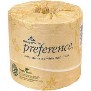 PREFERENCE 19448/01 2-Ply White Embossed Bathroom Tissue Toilet Paper