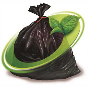 Mint-X MX3346STB 38 Gal. 33 in. x 46 in. 1.7 Mil Black Rodent Repellent Trash Bags