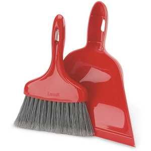 Libman 906 10 in. Red Dust Pan with Whisk Broom