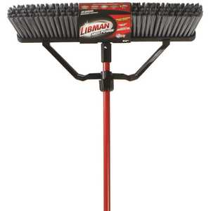 Libman 825 24 in. Rough Surface Push Broom Set with Brace and Handle