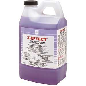 Spartan 485702 X-Effect 2 Liter Fresh Lavender Scent 1-Step Cleaner/Disinfectant