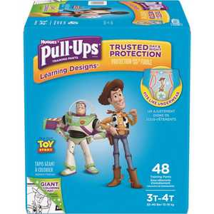 HUGGIES 48221 Pull-Ups Learning Designs Potty Training Pants for Boys, 3T-4T (32 - 40 lbs.)(Packaging May Vary)
