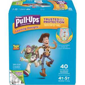 HUGGIES 48223 Pull-Ups Learning Designs Potty Training Pants for Boys, 4T-5T (38 - 50 lbs.)(Packaging May Vary)