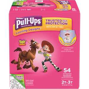 HUGGIES 48226 Pull-Ups Learning Designs Potty Training Pants for Girls, 2T-3T (18 - 34 lbs.)(Packaging May Vary)