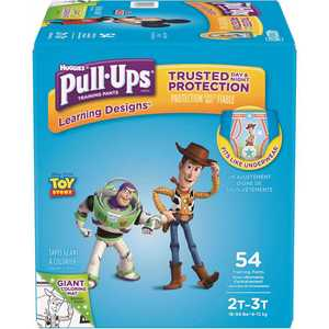 HUGGIES 48231 Pull-Ups Learning Designs Potty Training Pants for Boys, 2T-3T (18 - 34 lbs.)(Packaging May Vary)