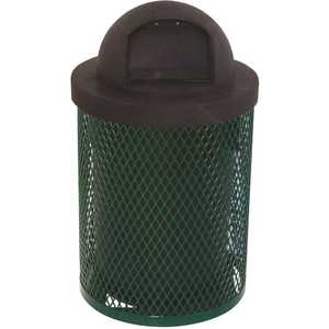 Everest 32 Gal. Green Trash Receptacle with Plastic Dome Top