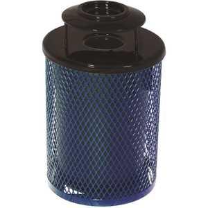 Everest 55 Gal. Blue Trash Receptacle with Ash Urn