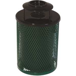 Everest 55 Gal. Green Trash Receptacle with Ash Urn