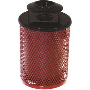 Everest 55 Gal. Red Trash Receptacle with Ash Urn