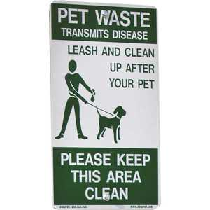 DOGIPOT 135-1007 Aluminum on Leash Pet Sign (Sign-Only)