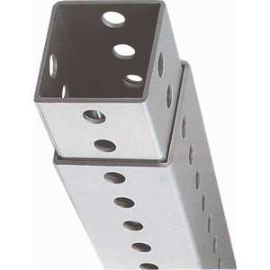 DOGIPOT 135-1021 4 ft. to 8 ft. Galvanized Square Telescopic Post with Hardware