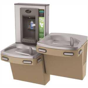 OASIS PG8EBFSL VersaCooler II COMBO ADA, Sandstone Electronic Bottle Filler and Bi-Level Drinking Fountain