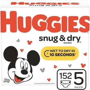 HUGGIES 49902 Snug & Dry Size 5 Diapers