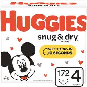 HUGGIES 49901 Snug & Dry Size 4 Diapers