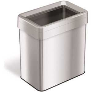 16 Gal. Rectangular Open Top Stainless Steel Trash Can
