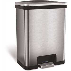 13 Gal. Pedal-Sensor Stainless Steel Can