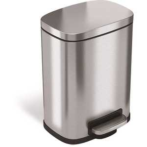 1.5 Gal. Soft Step Stainless Steel Trash Can with Plastic Liner