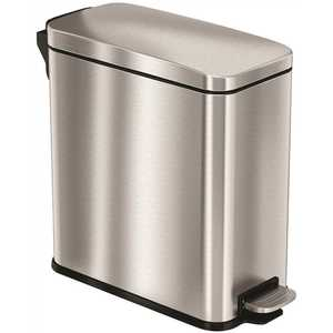 HLS COMMERCIAL HLSS03R 3 Gal. Stainless Steel Step Trash Can with Plastic Liner