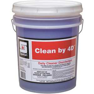 Spartan 101105 Clean by 4D 5 Gallon Fresh Scent 1-Step Cleaner/Disinfectant